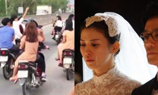 Thấy nhà trai đến đón dâu toàn bằng xe máy khiến họ nhà gái khinh thường để rồi khi biết sự thật ai cũng cảm động