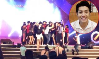 Phản ứng khéo léo đáng khen ngợi của Noo Phước Thịnh khi fans ùa lên sân khấu