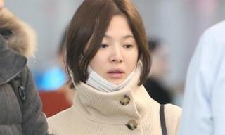 Song Hye Kyo lộ mặt mộc mệt mỏi, lần đầu công khai xuất hiện sau đám cưới