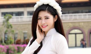 Á hậu Hoàng Dung dịu dàng khoe nhan sắc tại Đài Loan