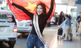Tường Linh chính thức lên đường tham dự Hoa hậu Liên Lục Địa 2017