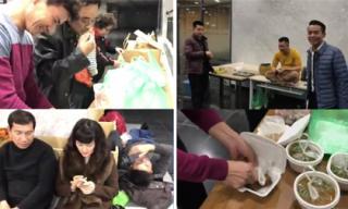 Cận cảnh bữa ăn vội của các nghệ sĩ tập Táo quân 2018