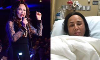 Danh ca Thanh Tuyền tiều tụy vì gặp tai nạn nghiêm trọng khi biểu diễn