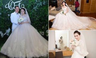 Những bộ váy cưới lộng lẫy, trị giá hàng trăm triệu của sao Việt trong năm 2017