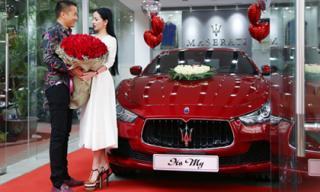 Hoa hậu Hạ My được chồng tặng xe sang Maserati gần 7 tỷ
