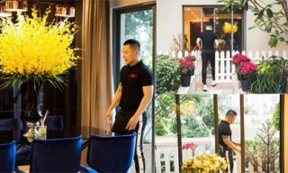 Không gian sang chảnh, ngập tràn sắc hoa trong căn hộ 10 tỷ của Vũ Khắc Tiệp