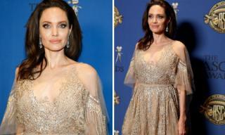 Xuất hiện đẹp như nữ thần nhưng Angelina Jolie lại lộ cánh tay gân guốc đáng sợ