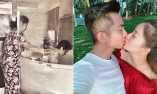 Tin sao Việt 22/2/2018: Trà My idol được mẹ tắm, Khánh Thi ngọt ngào hôn Phan Hiển