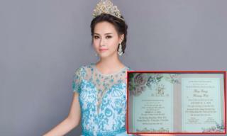 Hoa hậu Biển Phạm Thùy Trang bất ngờ kết hôn với ông xã hơn 2 tuổi