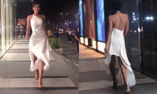 Hoa hậu H'Hen Niê trổ tài catwalk, khoe 'đường cong' tuyệt đẹp