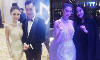 Jolie Nguyễn chụp ảnh cùng Cổ Thiên Lạc, Hyomin (T-Ara) tại liên hoan phim ở Macao