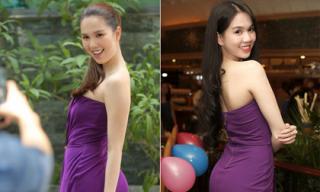 Mặc lại váy của 5 năm trước, khó có thể phân biệt được đâu là Ngọc Trinh hiện tại