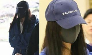 Giữa scandal 'quỵt tiền', Dương Mịch xuất hiện bịt kín mặt, liên tục cúi thấp đầu tại sân bay