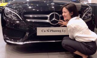 Ca sĩ Phương Ly hào hứng khoe xế hộp hạng sang có giá gần 2 tỷ đồng