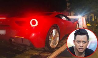 Ca sĩ Tuấn Hưng gặp sự cố trên đường khi lái siêu xe 16 tỷ đồng