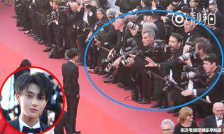 Mỹ nam Trung Quốc bị phóng viên xua đuổi khỏi ống kính trên thảm đỏ LHP Cannes