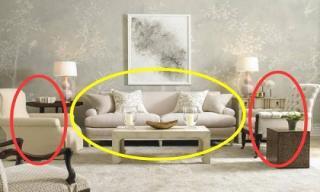 Ghế sofa trong nhà không thể đặt thế này, người giàu nào cũng biết nếu làm thế sẽ bị nghèo đi nhanh chóng
