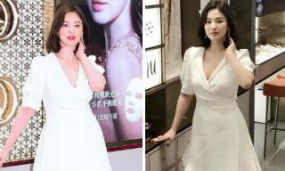 Song Hye Kyo trẻ như gái đôi mươi, gợi cảm với đầm trắng tinh khôi