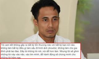 Sau họp báo, Phạm Anh Khoa chia sẻ tận đáy lòng: 'Xin cho người đàn ông này được nhận hết những nhiếc móc, chửi bới...'