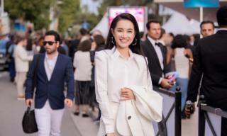 Nhã Phương xuất hiện với thần thái rạng rỡ tại LHP Cannes 2018 để quảng bá phim