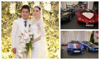 Đám cưới ca sĩ Lâm Vũ: Chú rể mang cả dàn mô tô 'khủng' và xe sang bạc tỷ đi rước nàng 'về dinh'