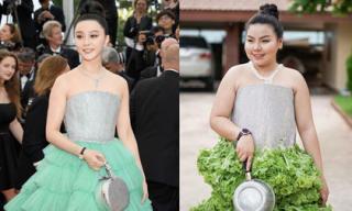 Cô bạn Thái Lan tự tin 'chặt đẹp' Phạm Băng Băng khi cosplay hàng hiệu thời trang bằng đồ ăn