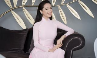 Diện áo dài hồng kín đáo, Nhã Phương đẹp xuất sắc khi được xuất hiện tại khu vực giới thiệu tài năng ở LHP Cannes