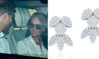 Meghan Markle đeo bông tai hơn 200 triệu trong ngày tổng duyệt trước đám cưới với Hoàng tử Harry