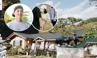 Vội về Hàn Quốc, Song Hye Kyo cùng Song Joong Ki tới thăm bố mẹ chồng