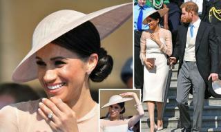 Công nương Meghan Markle mặc giản dị cùng Hoàng tử Harry lần đầu tham dự sự kiện sau đám cưới