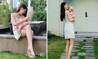 'Nữ hoàng sắc đẹp Toàn cầu' Ngọc Duyên lấy lại vóc dáng thon gọn chỉ hơn 1 tháng sau sinh