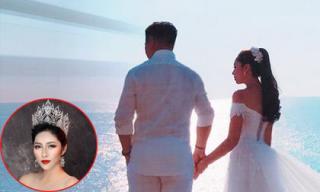 Đăng ảnh cưới, Hoa hậu Đại dương Đặng Thu Thảo sắp lên xe hoa?