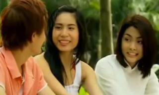 10 năm trước, Thủy Tiên hồn nhiên tán tỉnh Lương Mạnh Hải trước mặt Tăng Thanh Hà trong phim