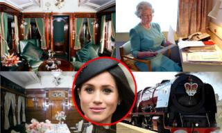 Nội thất xa hoa trong đoàn tàu hơn 150 tuổi mà công nương Meghan Markle sẽ đi cùng Nữ hoàng Anh