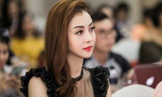 Jennifer Phạm rạng rỡ dự họp báo Hoa hậu Bản sắc Việt toàn cầu 2018