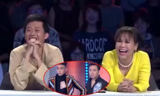 Hoài Linh - Việt Hương cười hả hê khi Trấn Thành bị thí sinh chỉ thẳng mặt tố sửa mũi