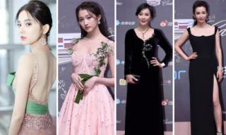 """Thảm đỏ """"Đêm hội điện ảnh Weibo 2018"""": Cổ Lực Na Trát, Quan Hiểu Đồng đẹp như công chúa bên các đàn chị nổi tiếng"""