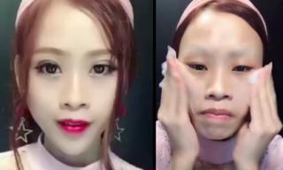 Gương mặt thật khiến bao người choáng váng về hotgirl xinh đẹp