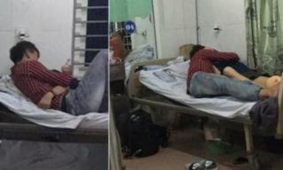 Cặp đôi 'gây sốc' khi coi bệnh viện như chốn riêng tư, ôm hôn thân mật dù phòng đầy người