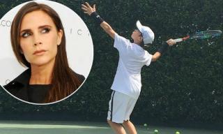 Victoria đầu tư gần 1 tỷ đồng xây sân cỏ nhân tạo với mong muốn con trai thứ trở thành ngôi sao tennis