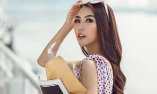 Tường Linh gợi ý cách phối đồ chấm bi với phụ kiện cho các quý cô công sở
