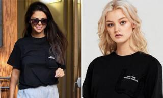 Chiếc áo được cho là 'thay lời muốn nói' của Selena Gomez sau khi Justin Bieber đính hôn gây chú ý