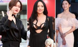 Thảm đỏ Bucheon 2018: 'Nàng cỏ' Goo Hye Sun tuột dốc thảm hại, loạt sao nữ vô danh tranh nhau hở bạo