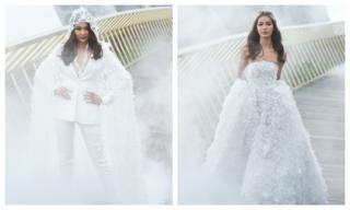Minh Tú khoác áo cưới kết từ 50.000 cánh hoa, Thanh Hằng hoá cô dâu quyền lực tuổi thanh xuân
