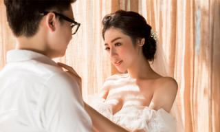 Trọn bộ ảnh cưới 'tình bể bình' của Á hậu Tú Anh và vị hôn phu