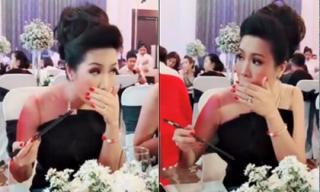 Sợ bị soi như Hari Won, Á hậu Trịnh Kim Chi ăn tiệc như đi ra mắt nhà chồng
