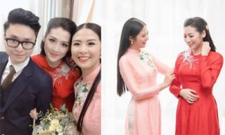 Hoa hậu Ngọc Hân tự may áo dài cưới tặng Tú Anh, viết tâm thư xúc động dành cho 'Cám em' trong ngày đi lấy chồng