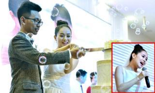 Á quân Vietnam Idol Hoàng Quyên xúc động hát tặng chồng trong ngày cưới