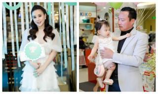 Ông xã doanh nhân điển trai lần đầu bế hai con đến chúc mừng Vy Oanh