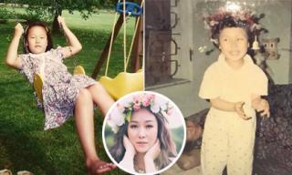 Hé lộ loạt ảnh hiếm lúc nhỏ của Hoa hậu Ngô Phương Lan